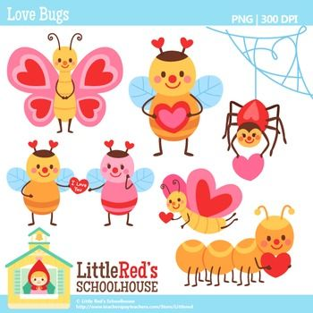 Clip Art - Love Bugs - holiday-themed clipart $