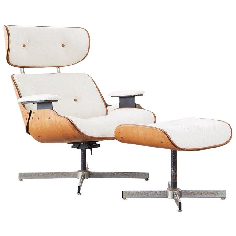 Lounge Stoel Eames.Eames Styles Lounge Chair And Ottoman By Plycraft Eames Style