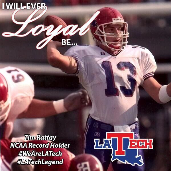 Tim Rattay Current Assistant La Tech Football Coach And Ncaa Record Holder Latechlegend Tech Football Louisiana Tech Football Coach