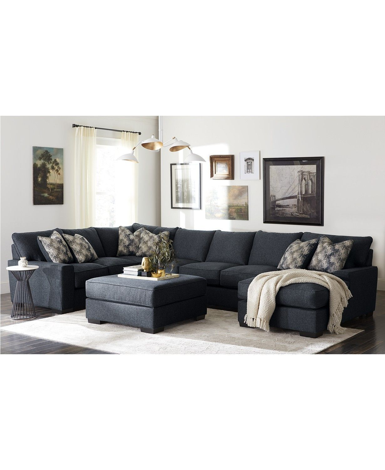 Furniture Tuni Fabric Sectional Sofa Collection Created For