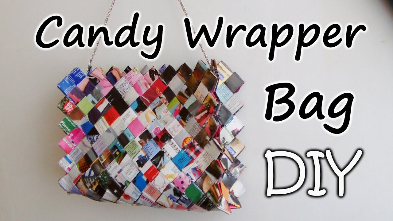 How To Make A Zig Zag Candy Wrapper Bag Purse Part 1