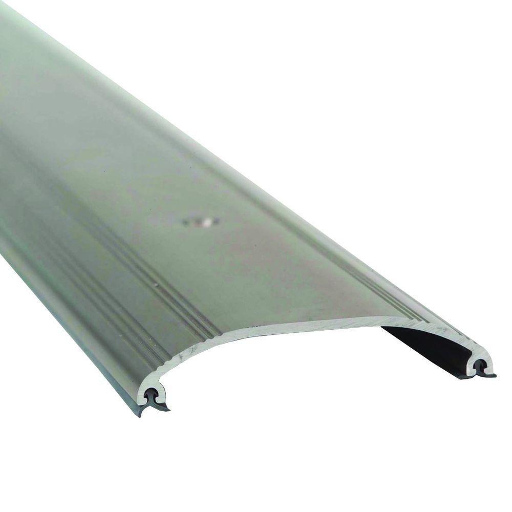 M D Building Products Low Dome Top 3 1 2 In X 72 In Satin Nickel Aluminum Threshold 99044072000 2 In Doors Floors Door Sweep
