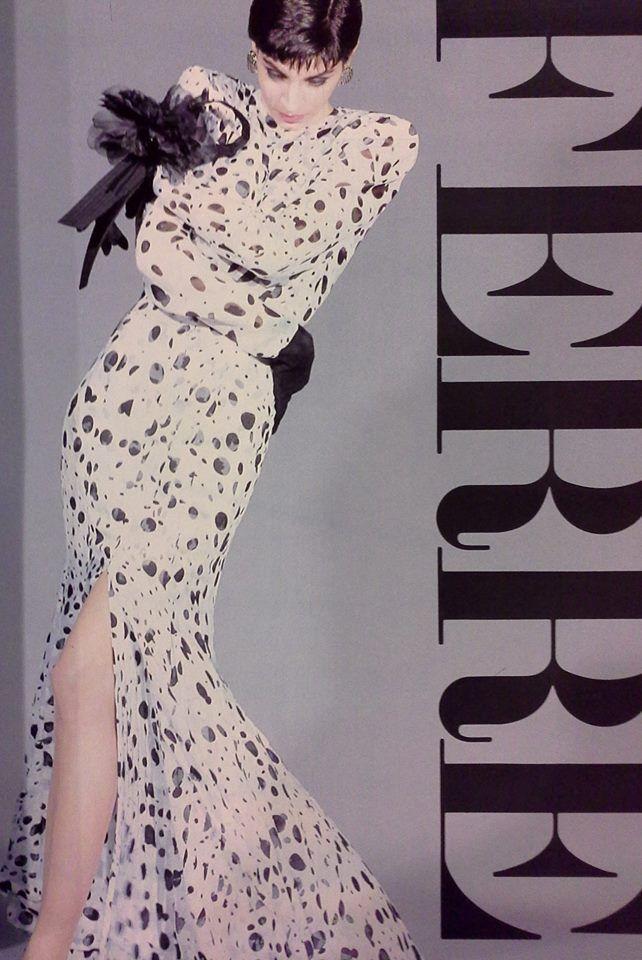 Susanna Linsmayer Laurie per  Gianfranco Ferré alta moda S/S 1987