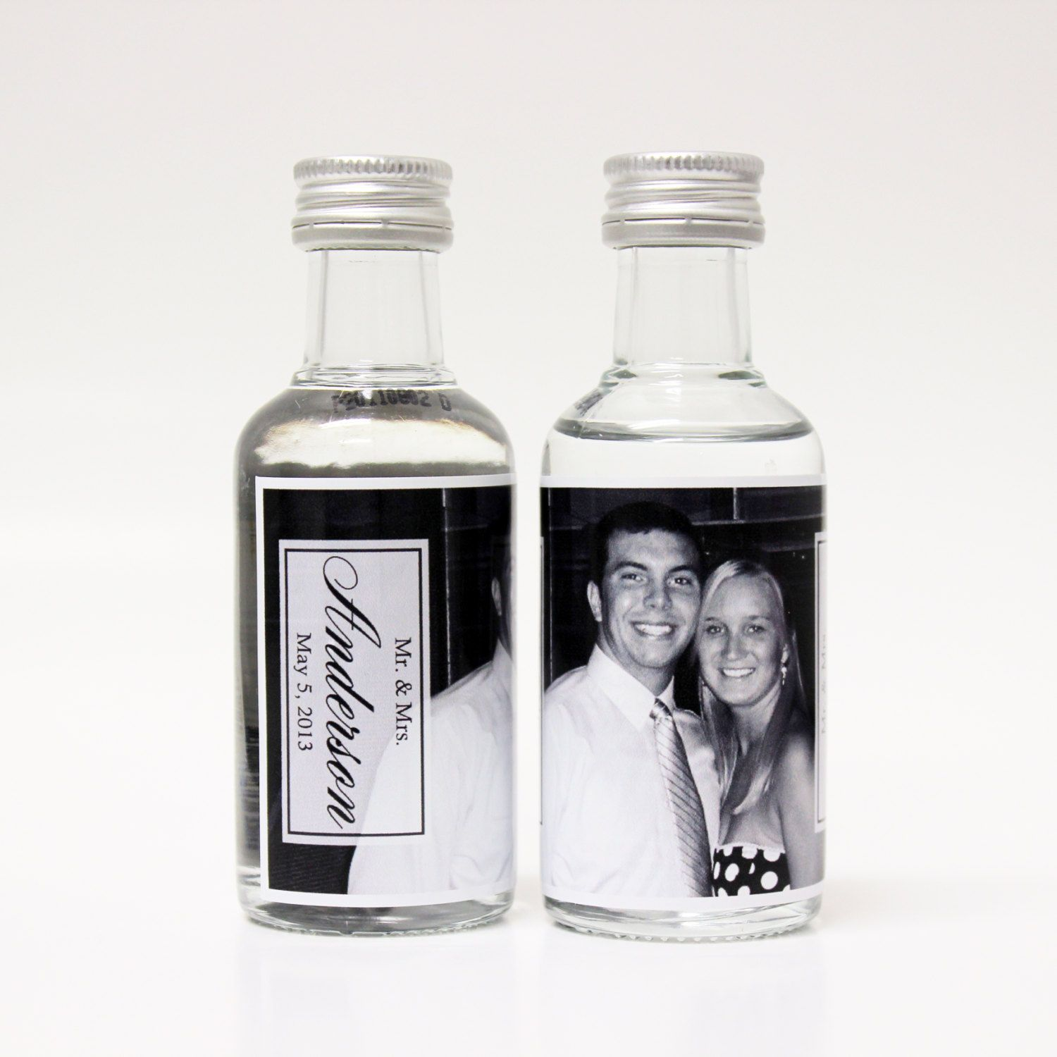 Custom Absolut Vodka Mini Bottle Labels Wedding by LiquidCourage ...