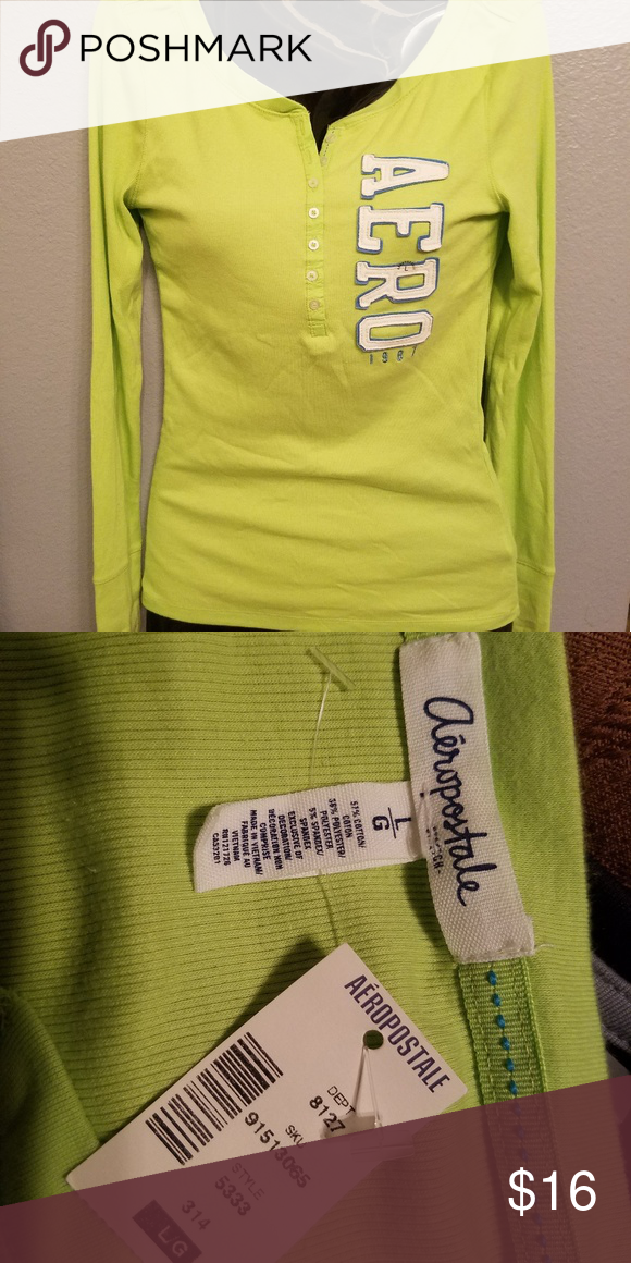 af8decac NWT Aeropostale Womens Sz Lg LS Shirt New With Tags. Size Large. Aeropostale  Tops Tees - Long Sleeve