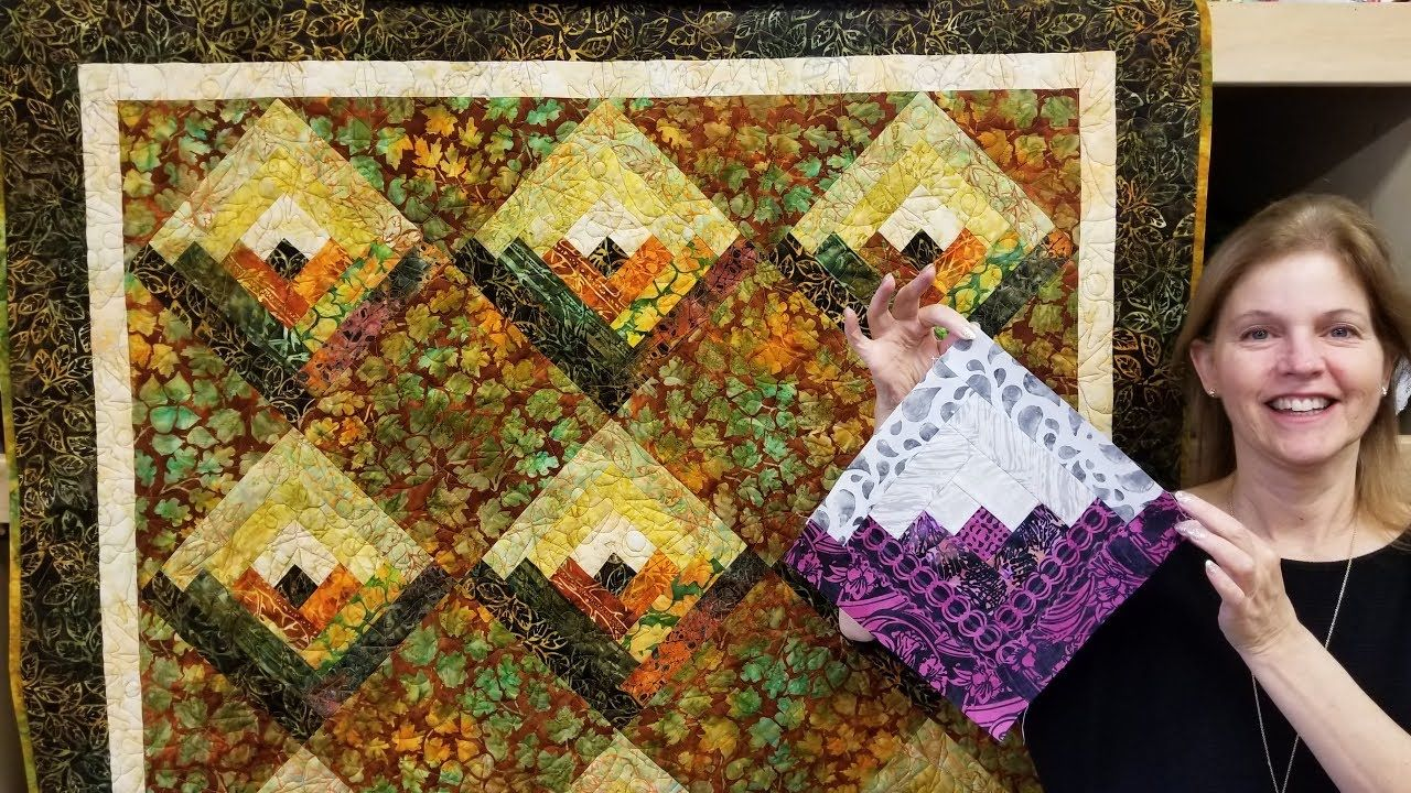 On Point Log Cabin Quilt Let S Make Quilt Tutorals