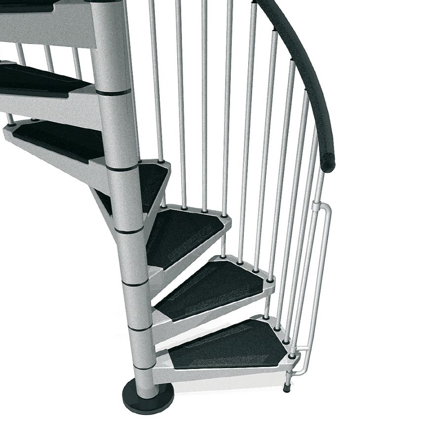 Best Arke Civik 47 In X 10 Ft Gray Spiral Staircase Kit 400 x 300