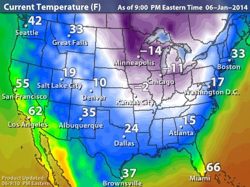 Intellicast - Current Temperatures in United States | That\'s Cold ...