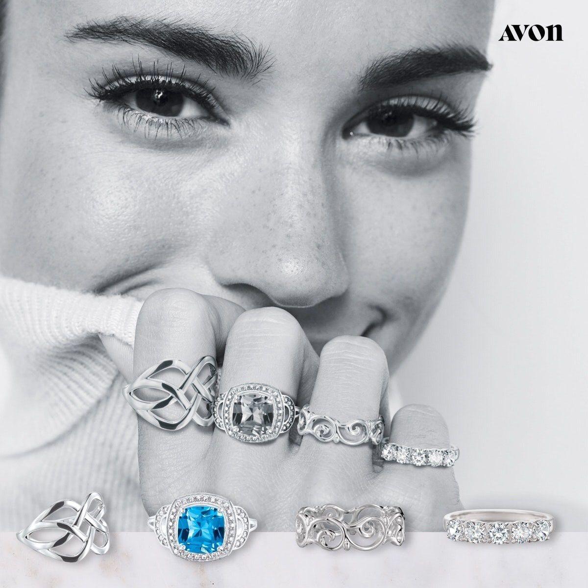 sara cz stone ring 6 avon