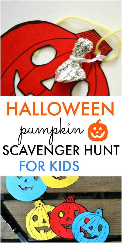 Halloween Pumpkin Scavenger Hunt Craft, Halloween ideas and - easy homemade halloween decorations for kids