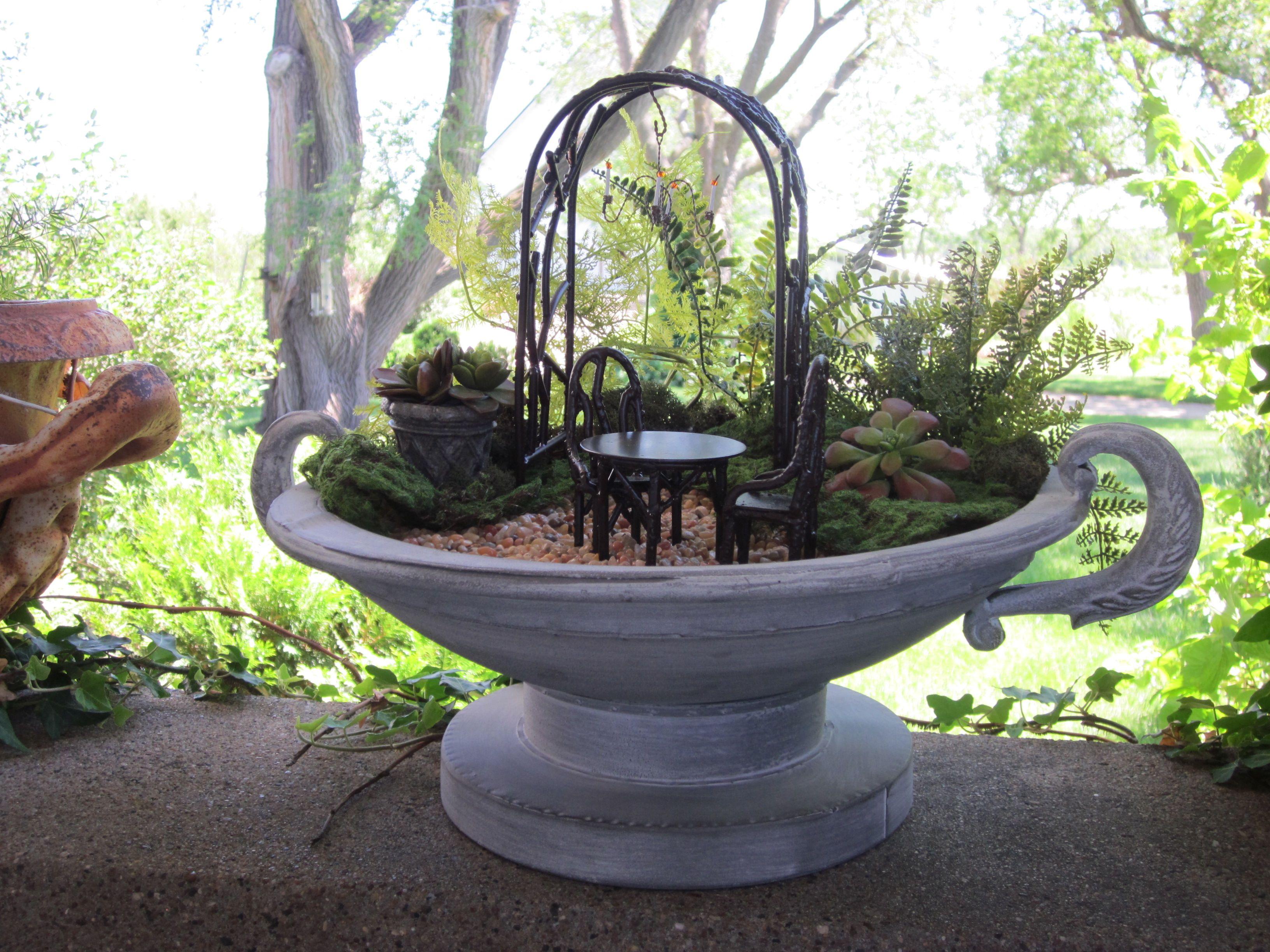 Garden decor trellis  fairy garden chairs trellis and accessories available at The Garden
