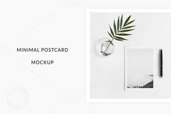 Minimal Postcard Mockup By Sarah Gerald On Creativemarket Postcard Mockup Branding Photos Postcard