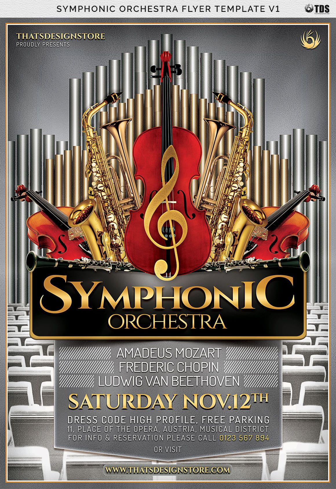 Symphonic Orchestra Flyer Template V1 By Thats Design