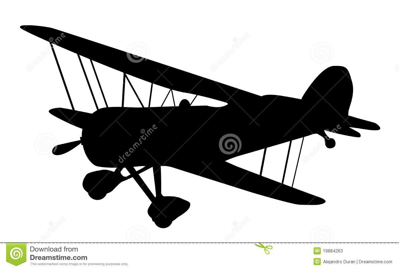 Vintage Biplane Silhouette Biplane Vintage Vintage Aircraft Vintage Airplanes