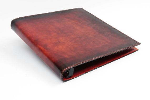 Leather 3 Ring Binder Notebook 1 Inch Leather 3 Ring Binder Leather Checkbook Wallet Handmade Notebook
