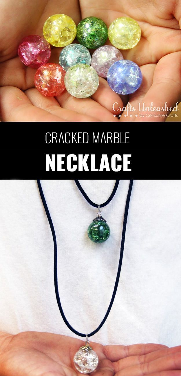 Cool DIY Ideas For Fun And Easy Crafts   DIY Cracked Marble Necklace For Fun  DIY Jewelry Idea   DIY Moon Pendant For Easy DIY Lighting In Teens Rooms    Dip ...