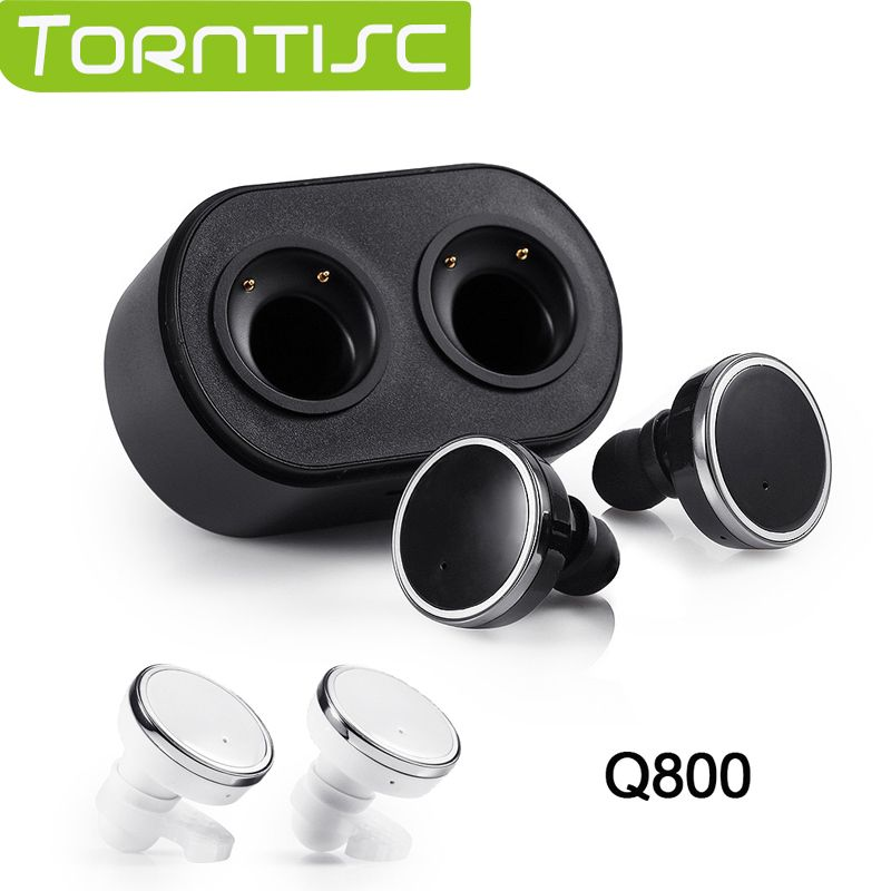 Torntisc Newest Bluetooth 4.1 Stereo In-ear Earphones Support Single / Double Earphones Pairing with Long Life 10m BT Distance