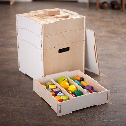 Caja Modular Wooden Crates Craft Storage Box Arts And Crafts Storage Craft Storage