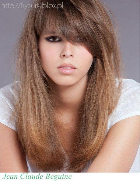 Fryzury Długie Włosy Grzywka Plecione Upięcie Włosów