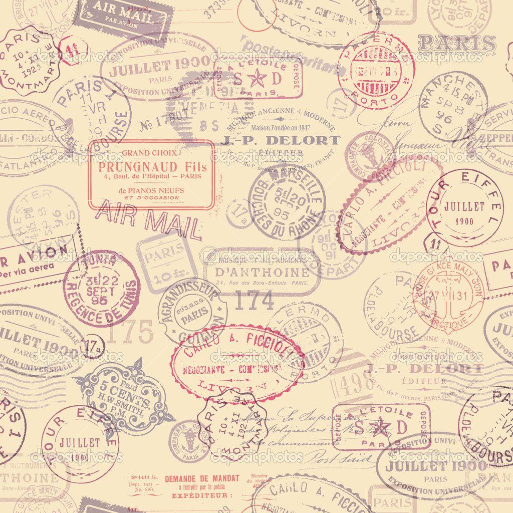Postage Stamp Background Paper