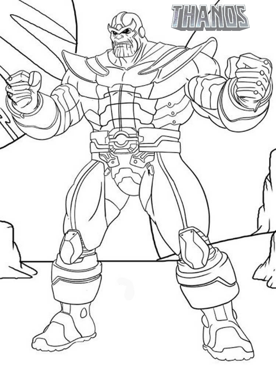 Thanos Throws The Galaxy Into Chaos With His All Powerful Infinity Gauntlet Thanos Titan Hero Marvel Coloring Superhero Coloring Pages Avengers Coloring Pages
