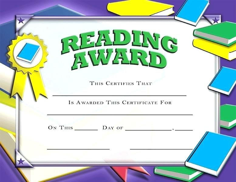 image about Free Printable Reading Certificates named free of charge printable studying awards award certificates certification