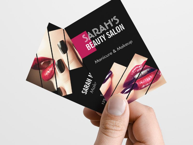 Sample Beauty Business Cards Choice Image - Card Design And Card ...