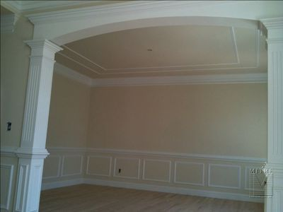 Shadow Box Wainscoting With Mostly Wall Color And Only Glossy Amusing Wainscoting For Dining Room Design Decoration