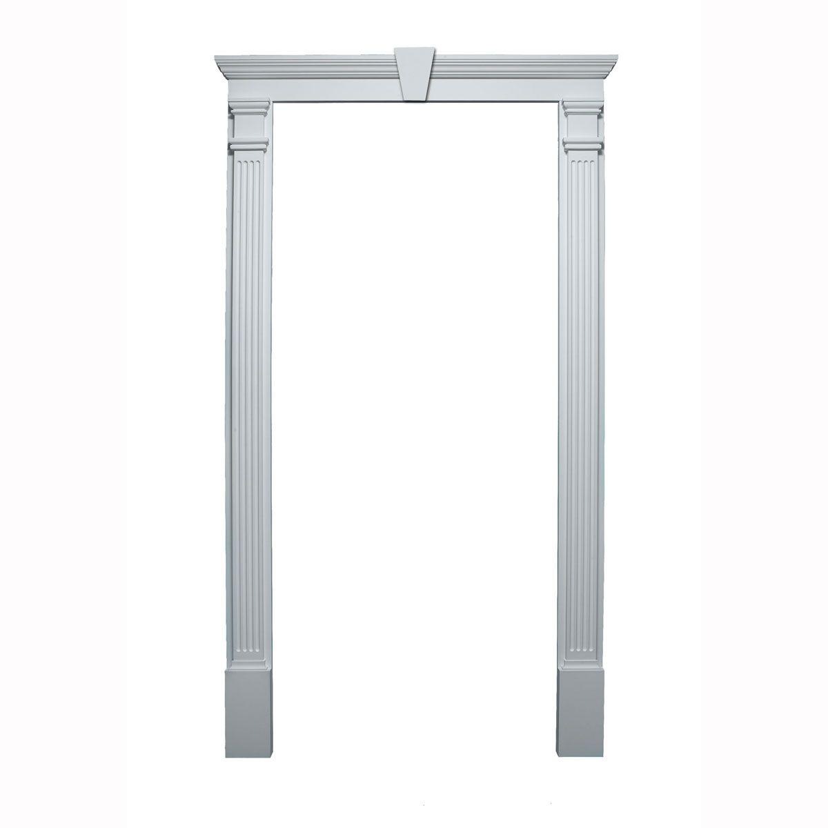 Door Trim Kit   Crosshead, Pilaster U0026 Keystone Included (For Door Sizes  36 Inch W   40 Inch W X 80 Inch H   90 Inch H)