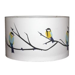 Lorna Syson. Juneberry And Bird Lampshade Medium £92. Made Using Digitally  Printed Organic