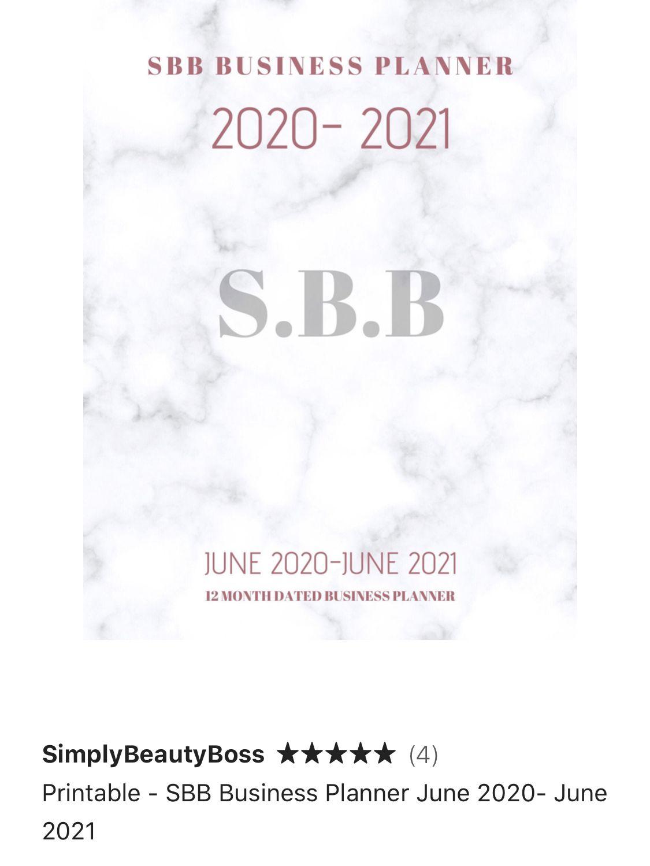 On Sale Now SBB Business Planner June 2020 June 2021 E