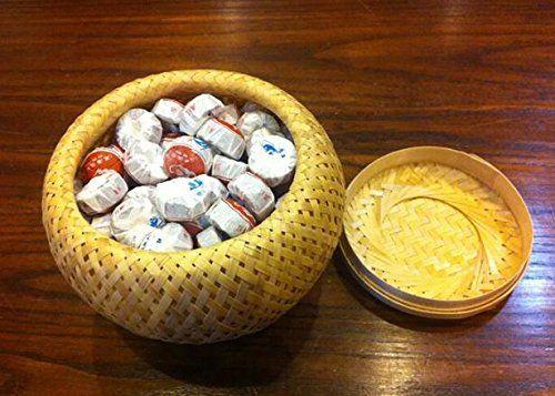 Pu erh torte mini tè fermentato Tuocha, più alto grado totale di 245 grammi nella scatola di bambù di imballaggio JOHNLEEMUSHROOM NOEN http://www.amazon.it/dp/B00U10G6PC/ref=cm_sw_r_pi_dp_LqsDwb0N6D3AY