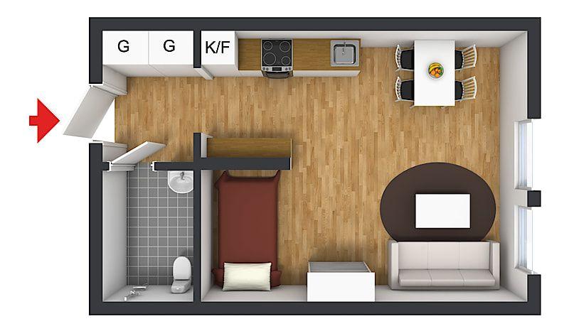studio em tom pastel 25m2 new basement space! Pinterest