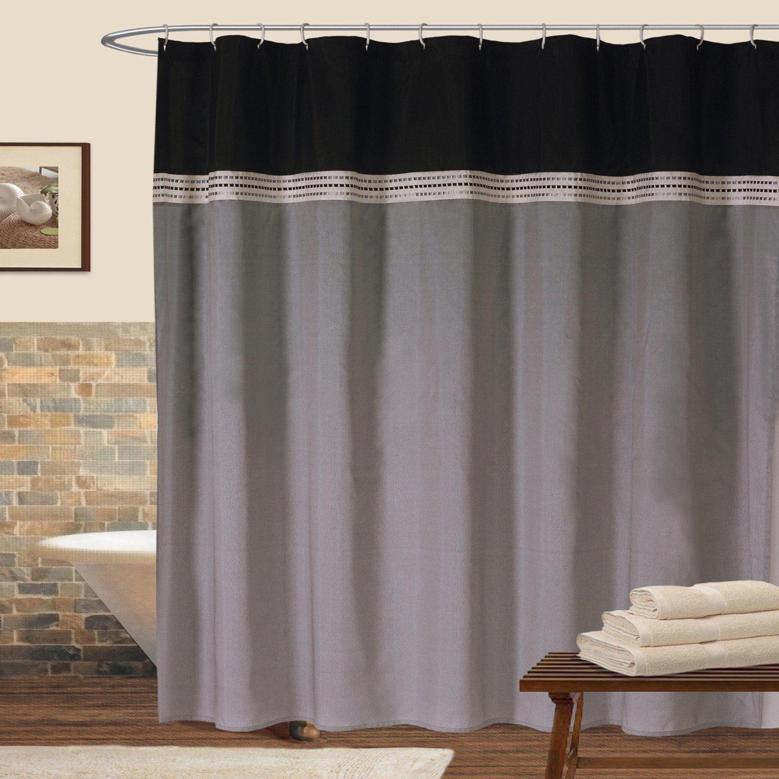 Terra Shower Curtain Black Shower Curtains Curtains Shower Curtains Walmart