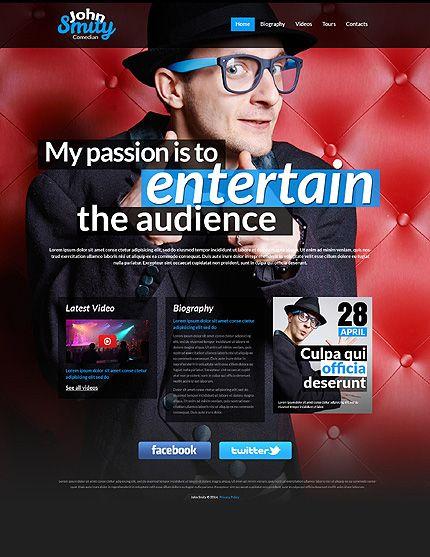 Template 50451 Entertainer Comedian Responsive Website Template
