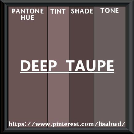 Pantone Seasonal Color Swatch Deep Taupe  Color Thesaurus Color
