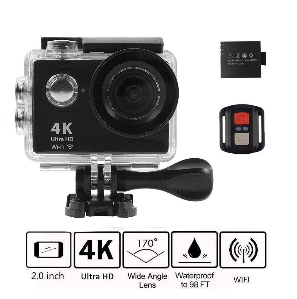 KKCITE WIFI Sports camera Waterproof 20MP Wide Angle