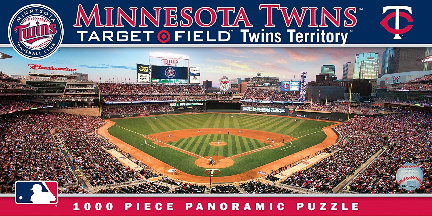 Masterpieces Mlb Minnesota Twins Stadium Panoramic Jigsaw Puzzle Check Out The Image By Visiting Th Minnesota Twins Minnesota Twins Baseball Twins Baseball