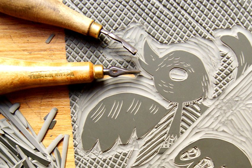 Pin on Linocut