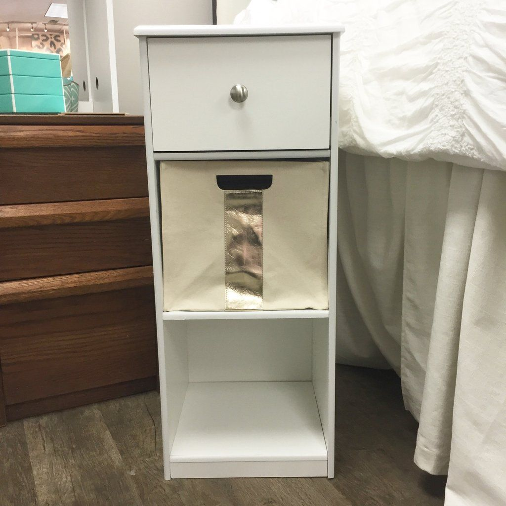 the perfect nightstand to fit by your dorm bed built