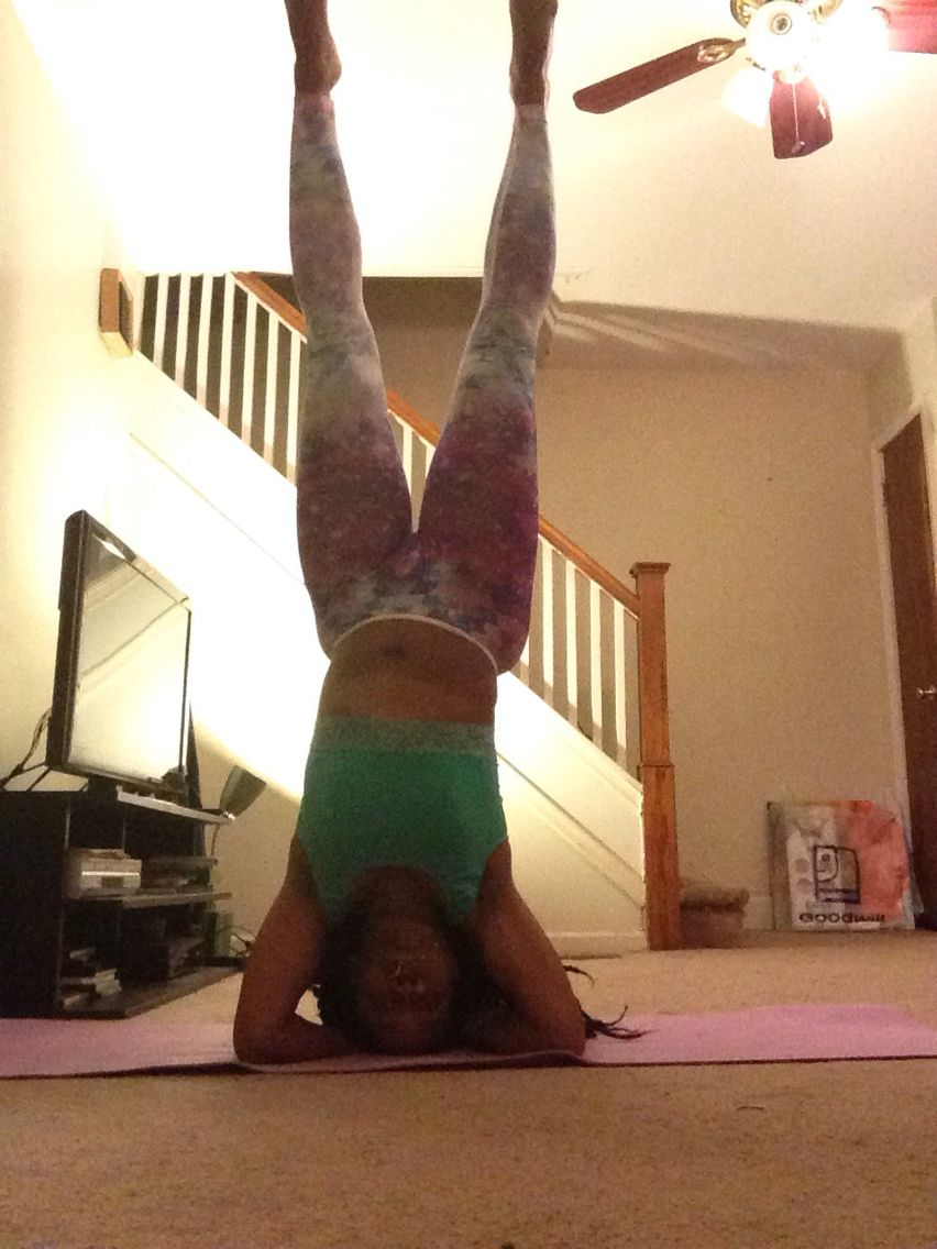 Finally able to hold a headstand!  @floetic_yogi