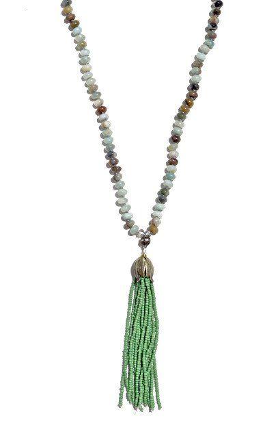 Kelley Fringe Pendant Necklace