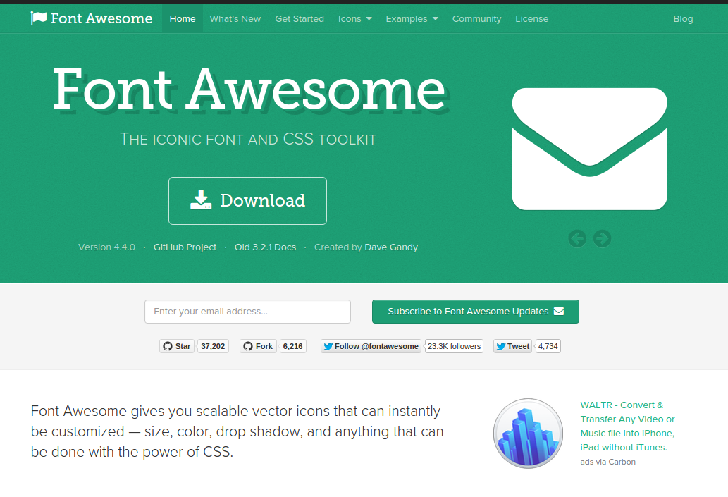 Font Awesome Blog font, Web development, Fonts