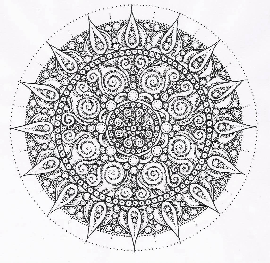 Mandala Adult Coloring pages Pinterest