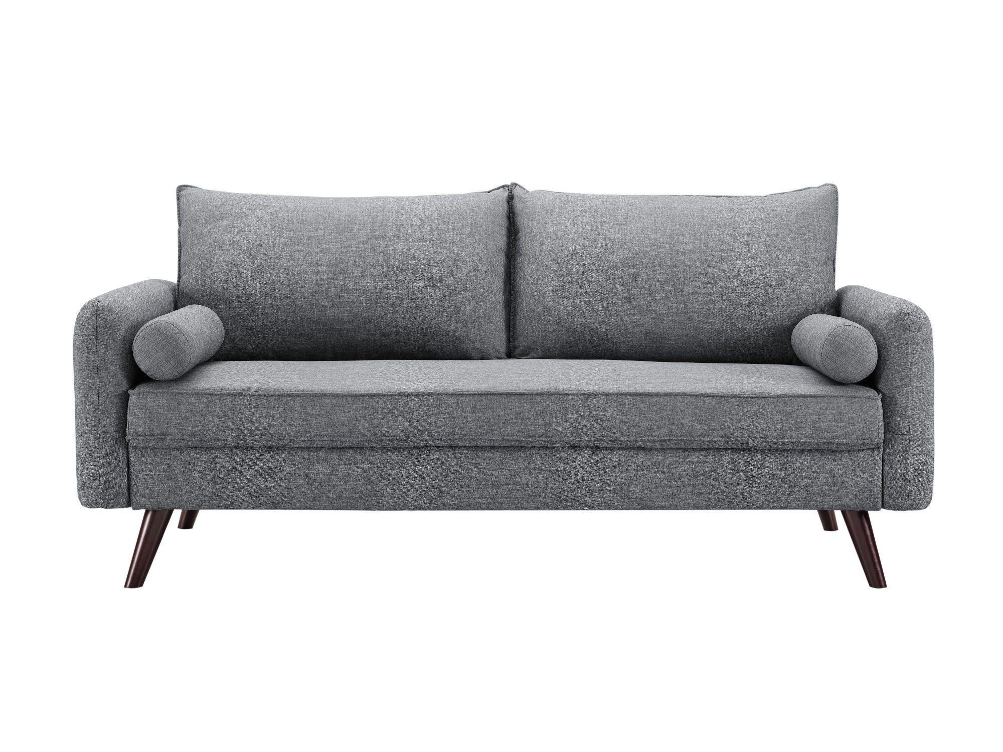 Modern Gray Sofa Carson Modern Grey Sofa Love Seat Studio Living