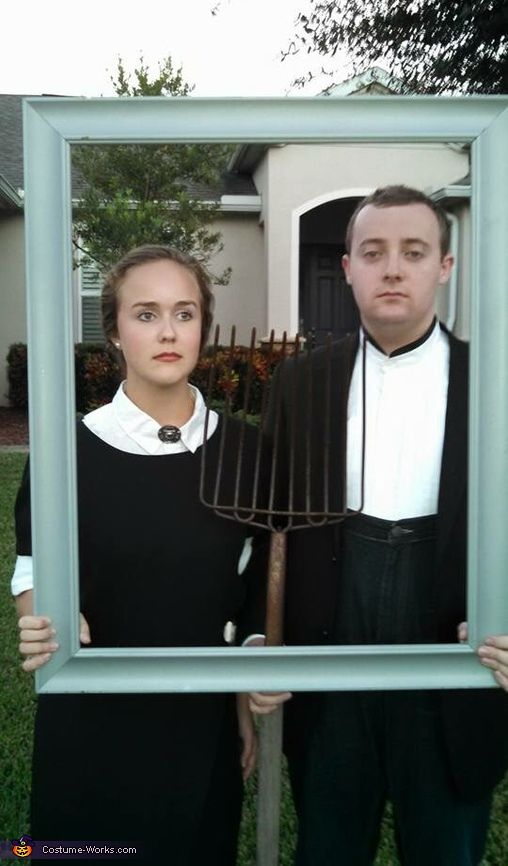Tillie: Tillie and her boyfriend Casey are wearing this costume. They bought a mirror from goodwill and took the mirror out to make the picture frame that they carried around all...