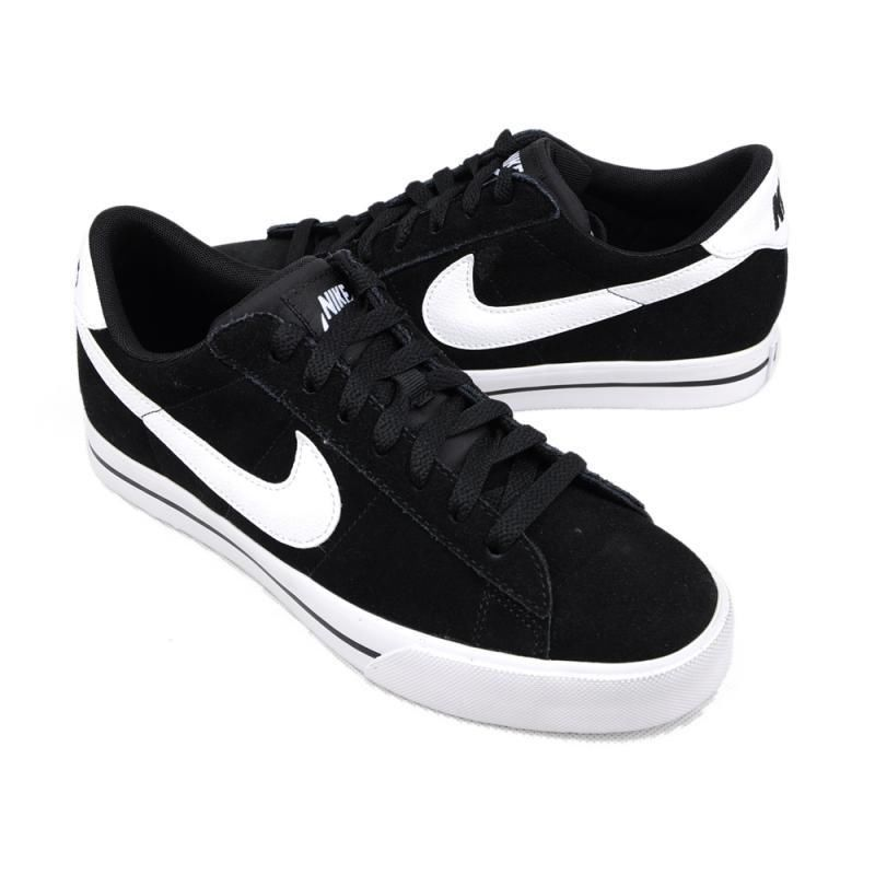 MEN'S NIKE SHOES SNEAKERS LOW BLACK WHITE LEATHER SUEDE CASUAL SB SIZE 10.5  #Nike #
