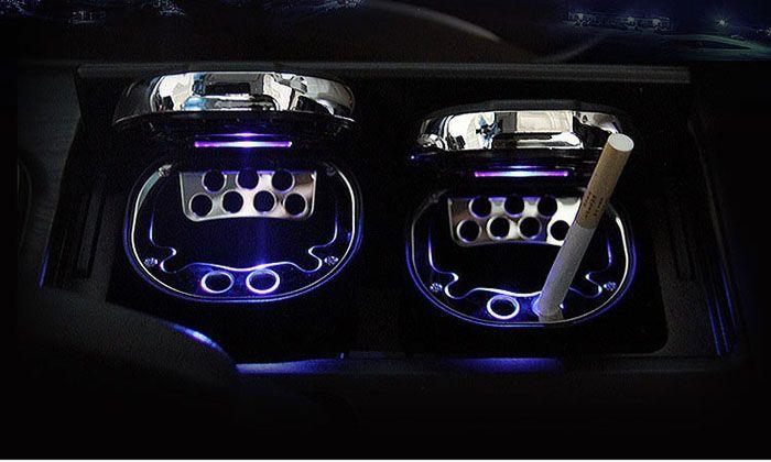 Mit led leuchten auto aschenbecher auto mit aschenbecher und