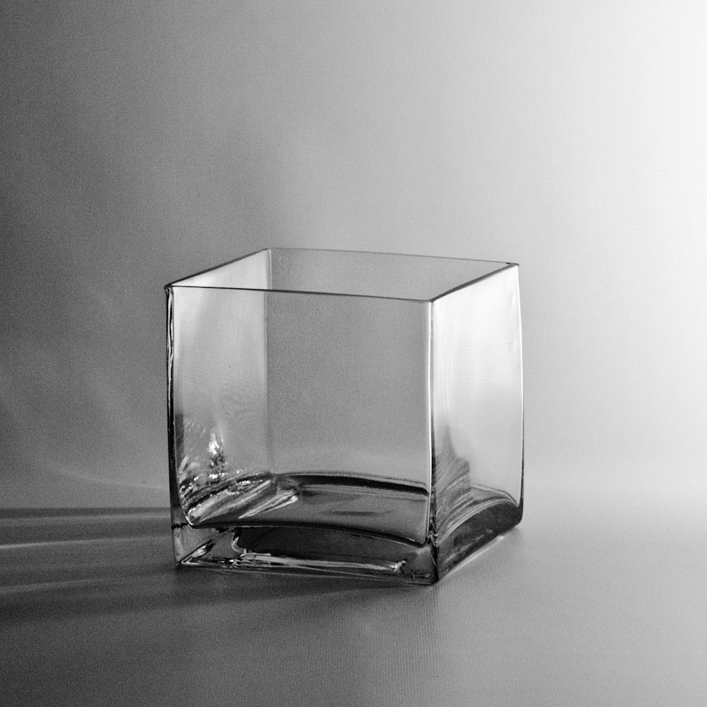 Square Glass Cube Vase 6x6 N Enchanted Forest Wedding Square Glass Vase Square Vase