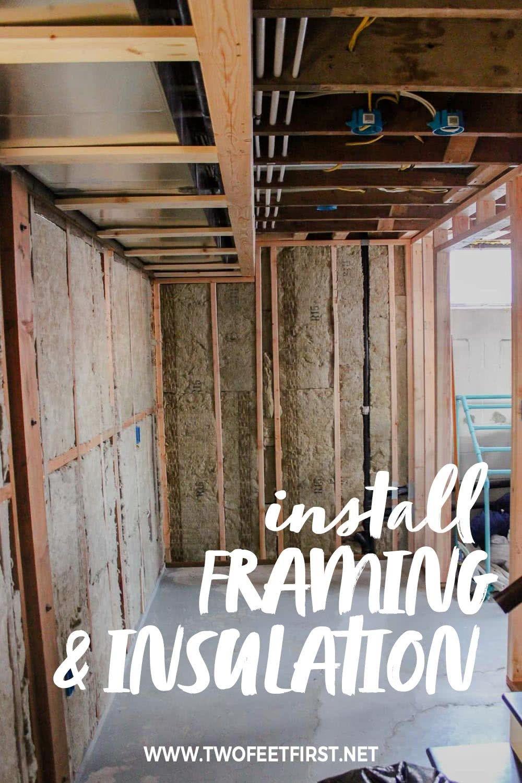 Insulating And Framing A Basement Framing A Basement Framing Basement Walls Finishing Basement
